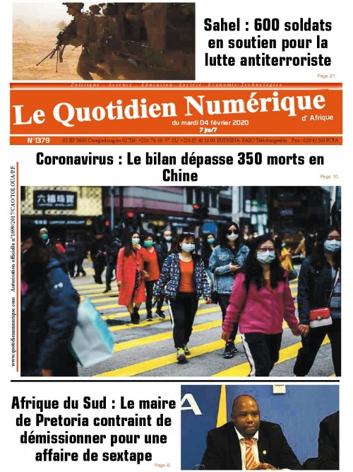 QUOTIDIEN NUMERIQUE D AFRIQUE  04/02/2020