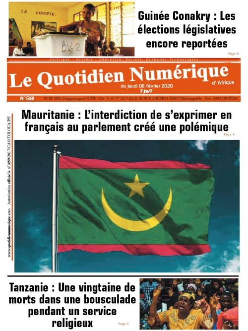 QUOTIDIEN NUMERIQUE D AFRIQUE  06/02/2020