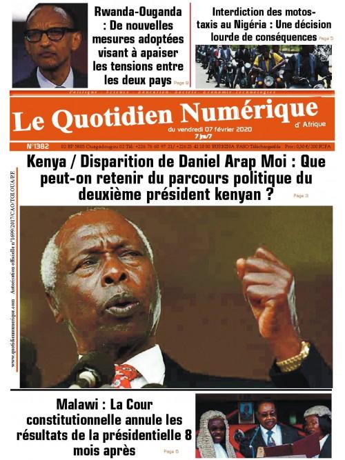 QUOTIDIEN NUMERIQUE D AFRIQUE  07/02/2020