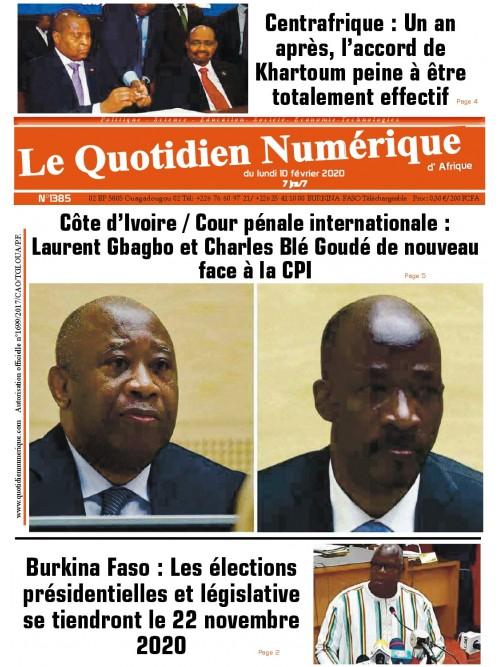 QUOTIDIEN NUMERIQUE D AFRIQUE  10/02/2020