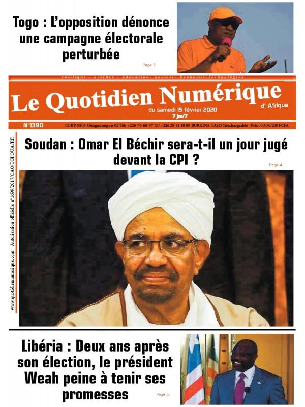 QUOTIDIEN NUMERIQUE D AFRIQUE  15/02/2020