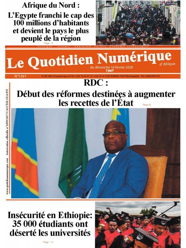 QUOTIDIEN NUMERIQUE D AFRIQUE  16/02/2020