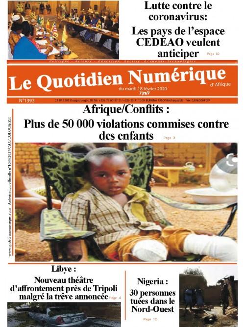 QUOTIDIEN NUMERIQUE D AFRIQUE  18/02/2020