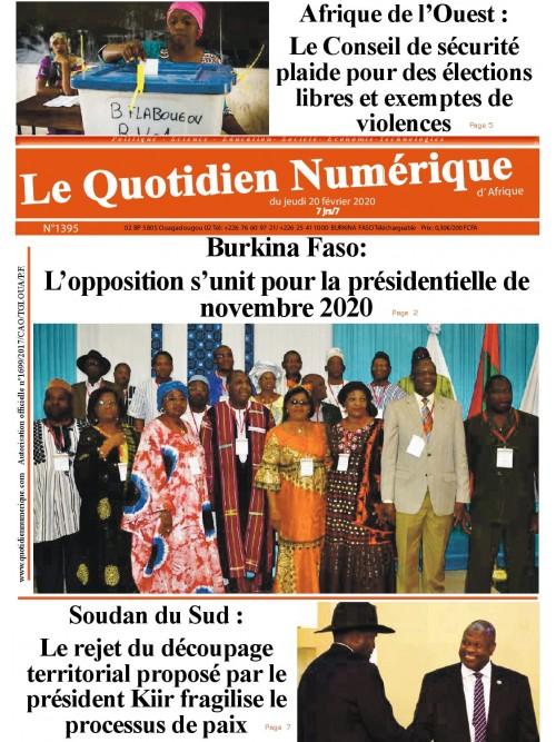 QUOTIDIEN NUMERIQUE D AFRIQUE  20/02/2020