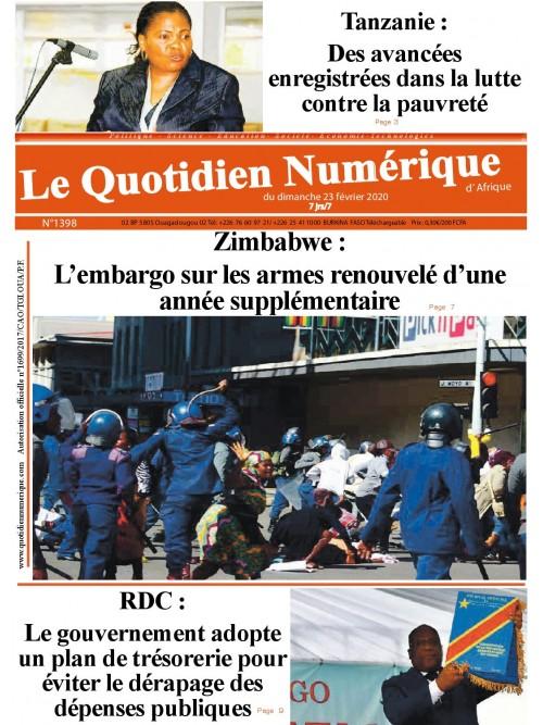 QUOTIDIEN NUMERIQUE D AFRIQUE  23/02/2020