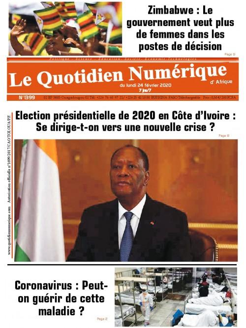 QUOTIDIEN NUMERIQUE D AFRIQUE  24/02/2020