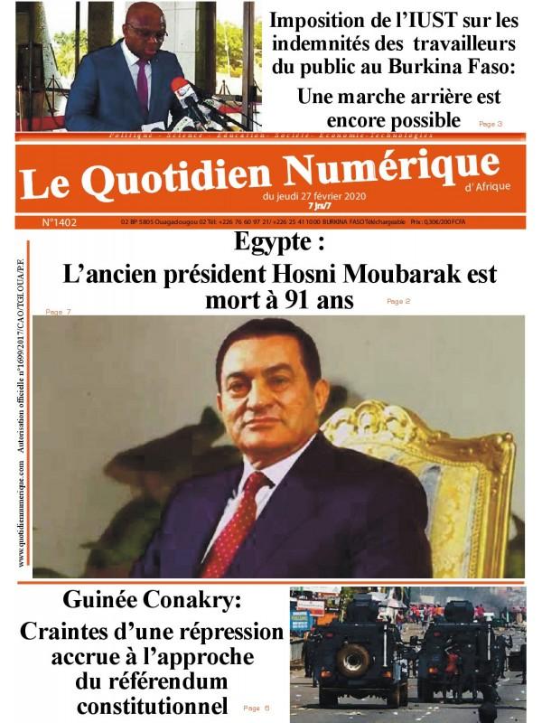 QUOTIDIEN NUMERIQUE D AFRIQUE  27/02/2020