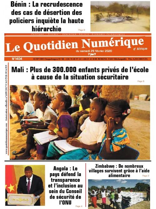 QUOTIDIEN NUMERIQUE D AFRIQUE  29/02/2020