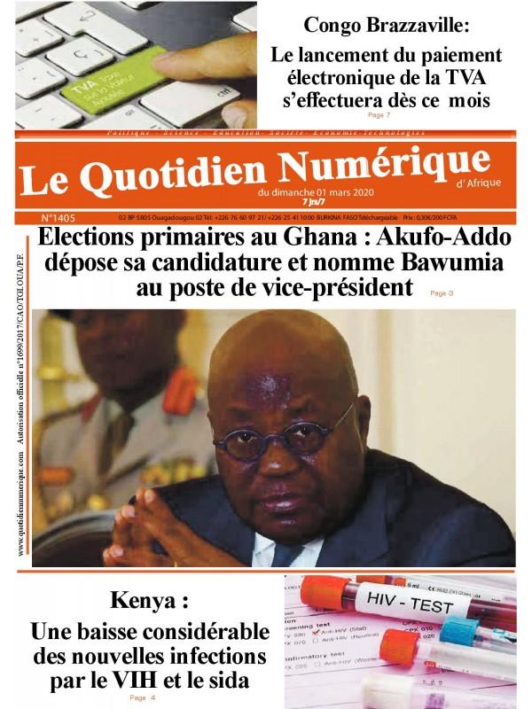 QUOTIDIEN NUMERIQUE D AFRIQUE  01/03/2020