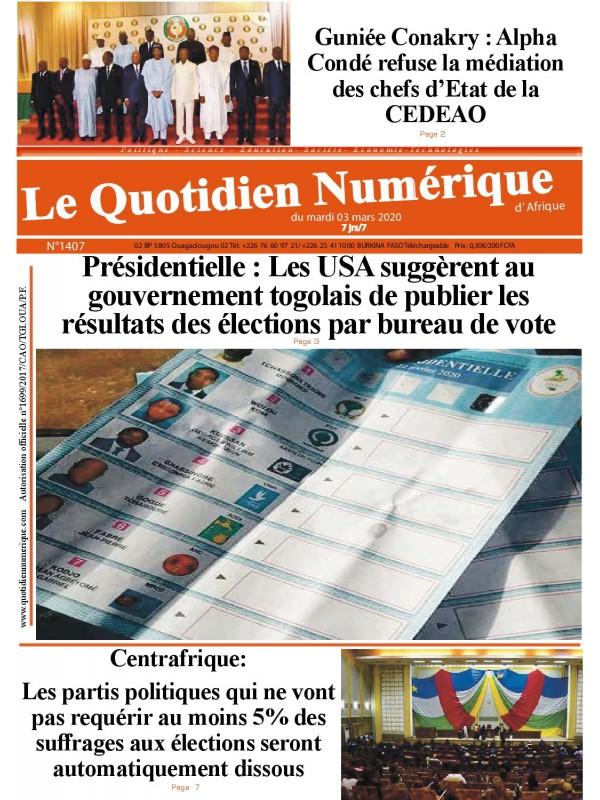 QUOTIDIEN NUMERIQUE D AFRIQUE  03/03/2020