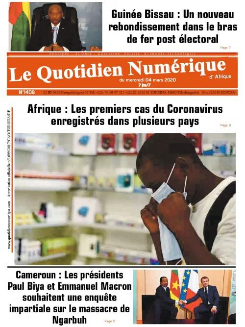 QUOTIDIEN NUMERIQUE D AFRIQUE  04/03/2020