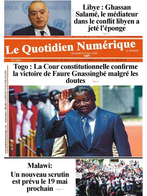 QUOTIDIEN NUMERIQUE D AFRIQUE  05/03/2020