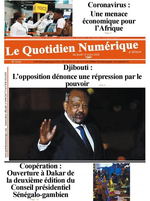 QUOTIDIEN NUMERIQUE D AFRIQUE  12/03/2020