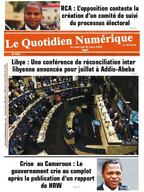 QUOTIDIEN NUMERIQUE D AFRIQUE  18/03/2020
