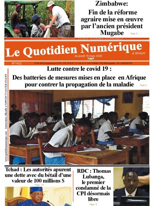 QUOTIDIEN NUMERIQUE D AFRIQUE  19/03/2020
