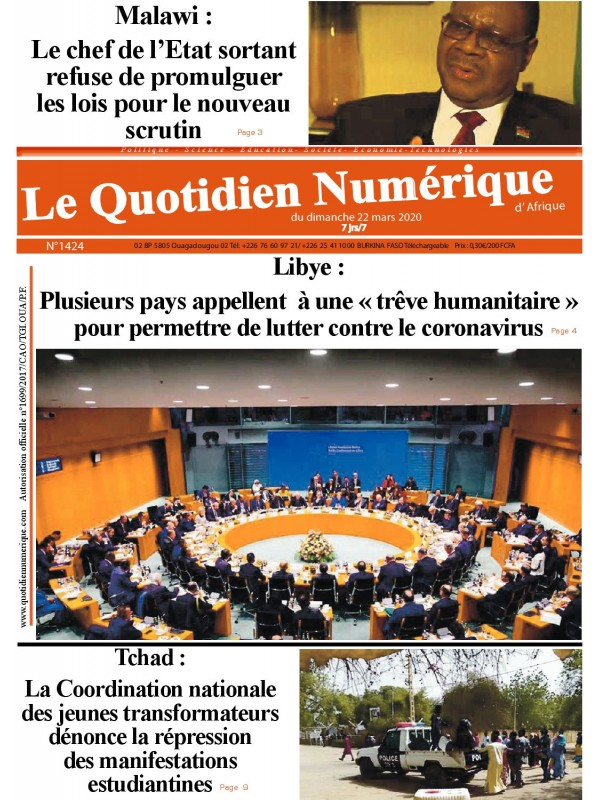 QUOTIDIEN NUMERIQUE D AFRIQUE  22/03/2020