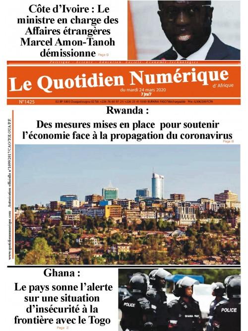 QUOTIDIEN NUMERIQUE D AFRIQUE  24/03/2020