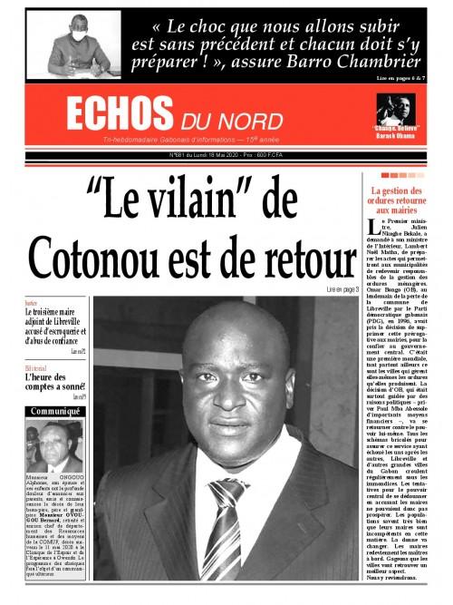 Echos du Nord 18/05/2020