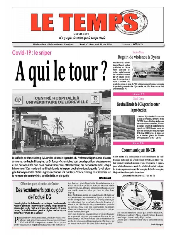 Le Temps  18/06/2020