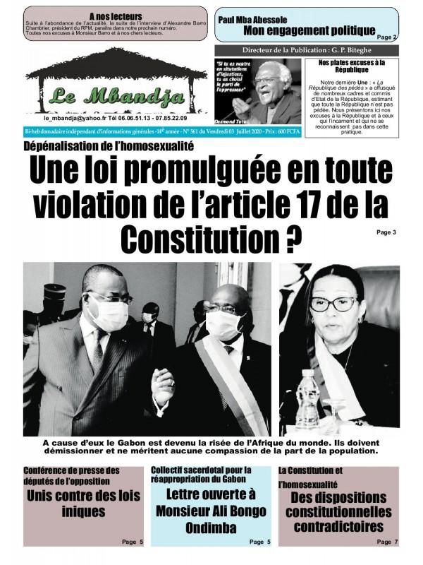 Le Mbandja 03/07/2020