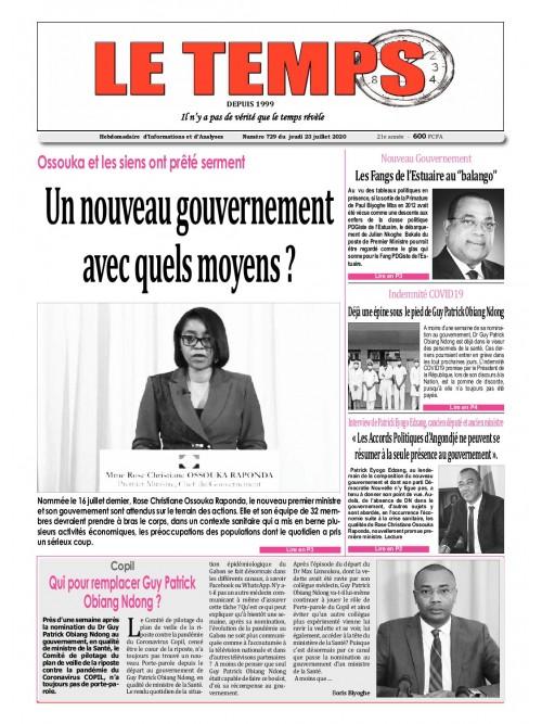 Le Temps  23/07/2020