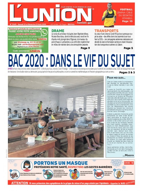 L'Union 22/08/2020