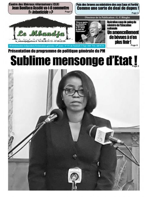 Le Mbandja 11/09/2020
