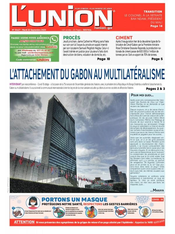 L'Union 22/09/2020