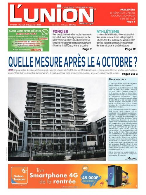 L'Union 30/09/2020