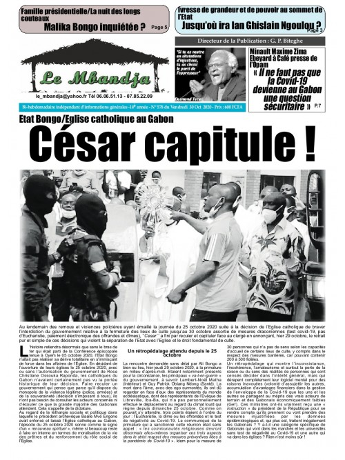 Le Mbandja 30/10/2020