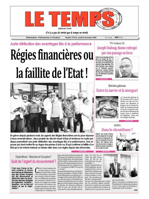 Le Temps  26/11/2020