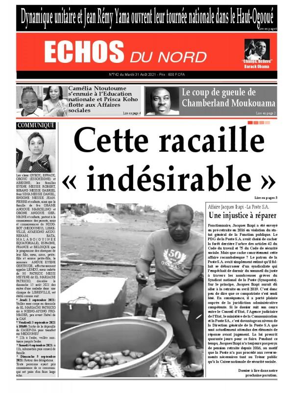 Echos du Nord 31/08/2021