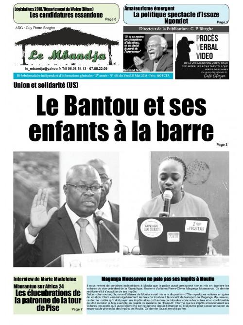 Le Mbandja 25/05/2018