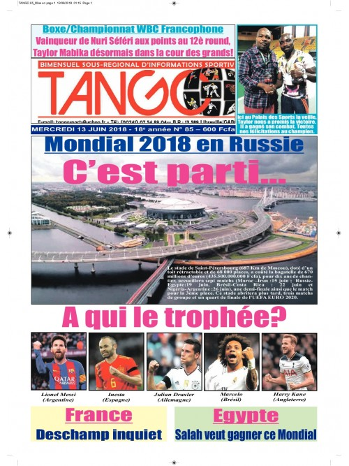 TANGO 13/06/2018