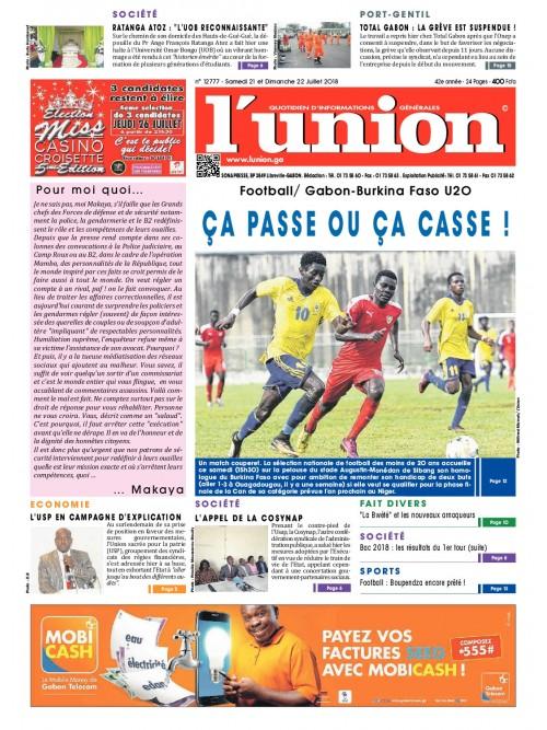 L'Union 21/07/2018