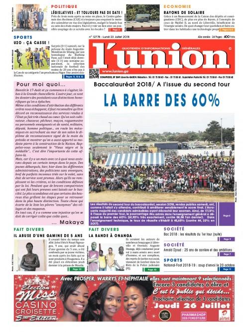 L'Union 23/07/2018