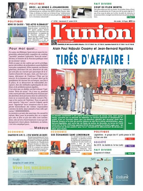 L'Union 27/07/2018