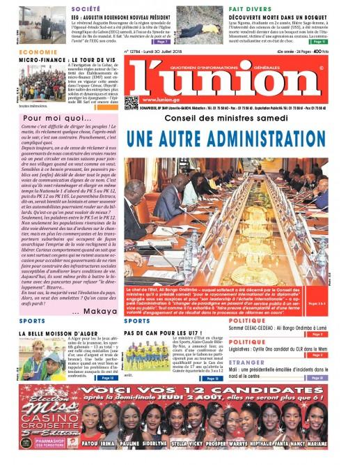 L'Union 30/07/2018