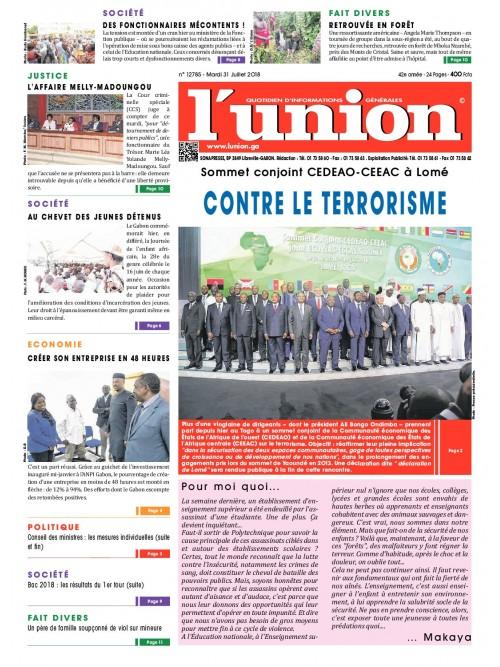 L'Union 31/07/2018