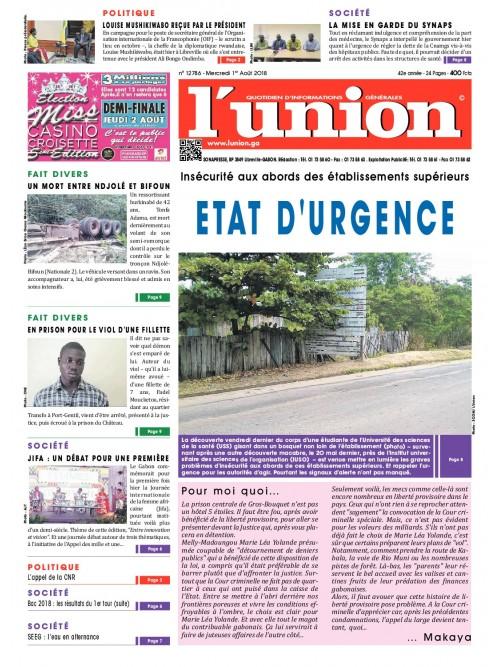 L'Union 01/08/2018