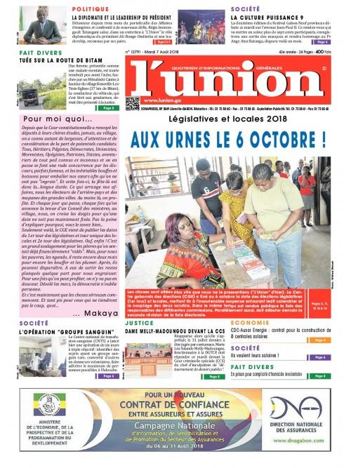 L'Union 07/08/2018