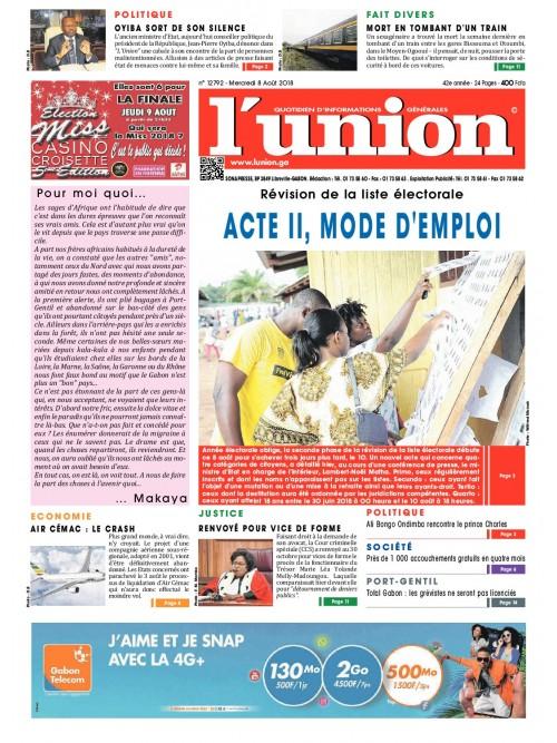 L'Union 08/08/2018