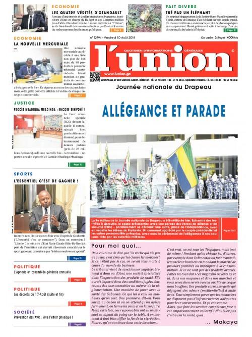 L'Union 10/08/2018