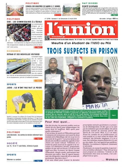 L'Union 11/08/2018