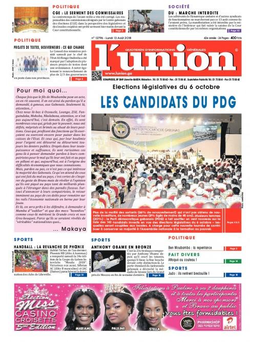 L'Union 13/08/2018