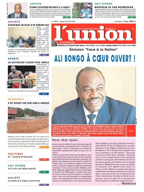 L'Union 30/08/2018