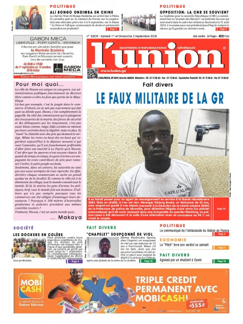 L'Union 01/09/2018
